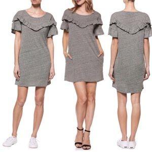 Paige Adalie Ruffle T-Shirt Dress with Pockets
